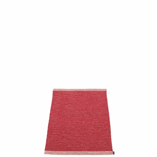 Pappelina Mono Plastic Rug - Blush/Dark Red, 2' x 2 3/4'