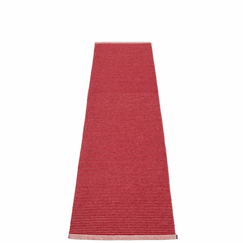 Mono Plastic Rug - Blush/Dark Red, 2' x 8 1/4'