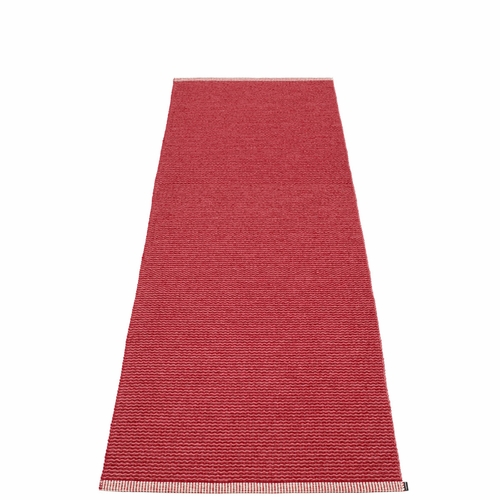 Mono Plastic Rug - Blush/Dark Red, 2 3/4' x 8 1/2'