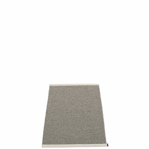 Mono Plastic Rug - Charcoal/Warm Grey, 2' x 2 3/4'