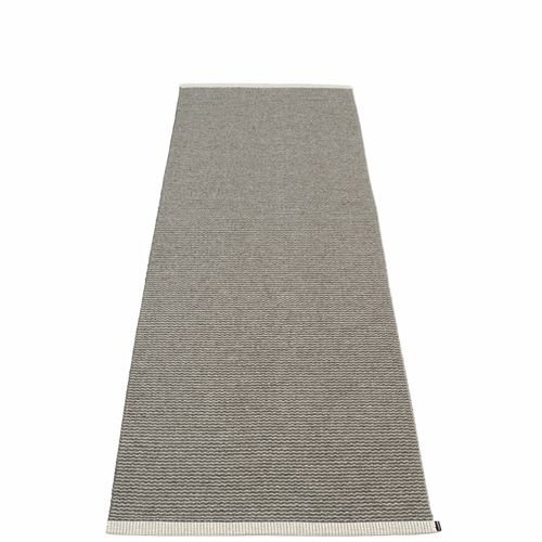 "Mono Plastic Rug - Charcoal/Warm Grey, 33"" x 102"""