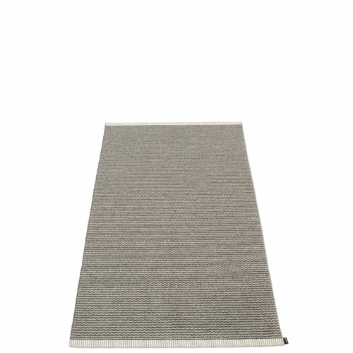 Mono Plastic Rug - Charcoal/Warm Grey, 2 3/4' x 5 1/4'