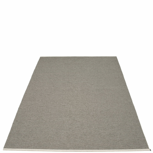"Mono Plastic Rug - Charcoal/Warm Grey, 72"" x 111"""