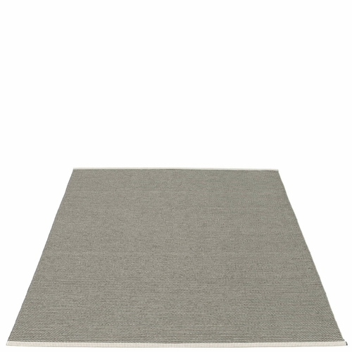 Mono Plastic Rug - Charcoal/Warm Grey, 6' x 7 1/4'