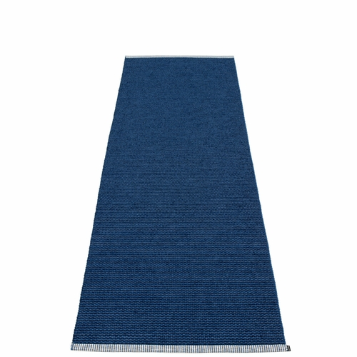 Mono Plastic Rug - Dark Blue/Denim, 2 3/4' x 8 1/2'