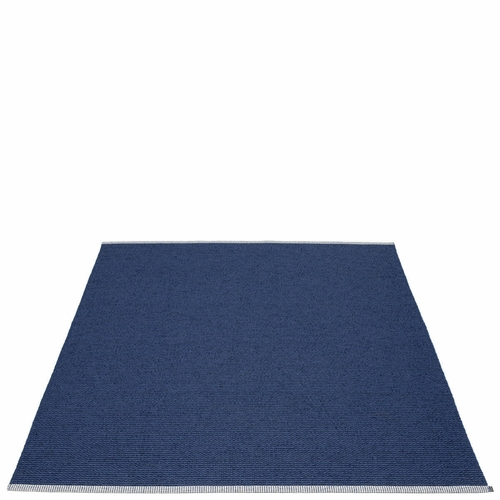 Mono Plastic Rug - Dark Blue/Denim, 6' x 7 1/4'