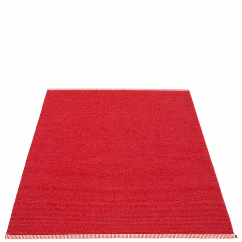 Pappelina Mono Plastic Rug - Dark Red/Red, 6' x 10'