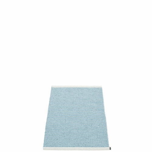 Pappelina Mono Plastic Rug - Misty Blue/Ice Blue, 2' x 2 3/4'