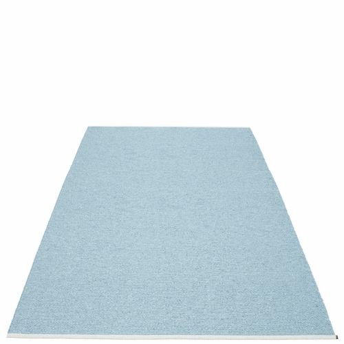 Pappelina Mono Plastic Rug - Misty Blue/Ice Blue, 6' x 10'