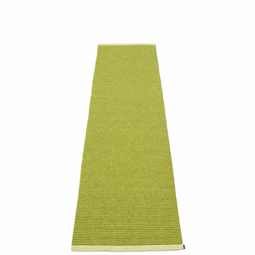 Mono Plastic Rug - Olive/Lime, 2' x 8 1/4'