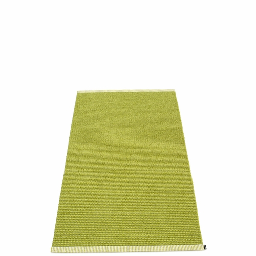 Mono Plastic Rug - Olive/Lime, 2 3/4' x 5 1/4'