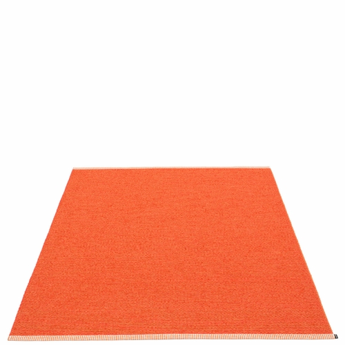 Pappelina Mono Plastic Rug - Pale Orange/Coral Red, 6' x 7 1/4'