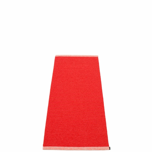 "Mono Plastic Rug - Red/Coral Red, 24"" x 60"""