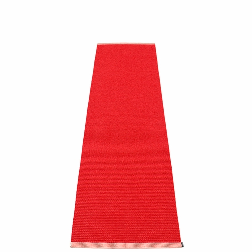 Mono Plastic Rug - Red/Coral Red, 2' x 8 1/4'