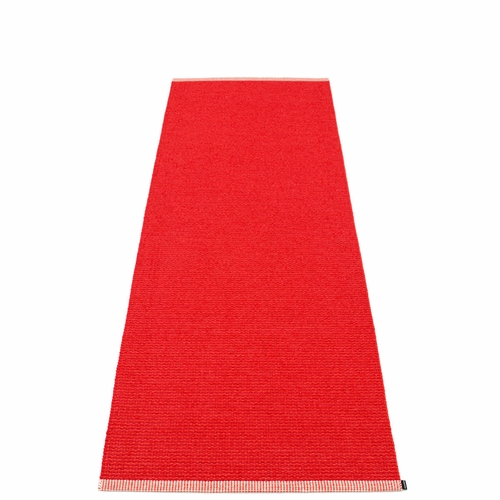 Mono Plastic Rug - Red/Coral Red, 2 3/4' x 8 1/2'