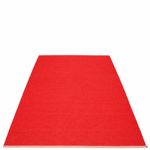 Mono Plastic Rug - Red/Coral Red, 6' x 9 1/4'
