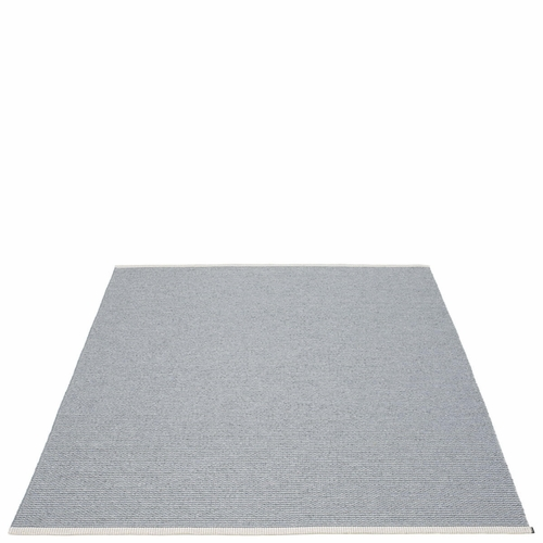 "Mono Plastic Rug - Storm/Light Grey, 72"" x 87"""