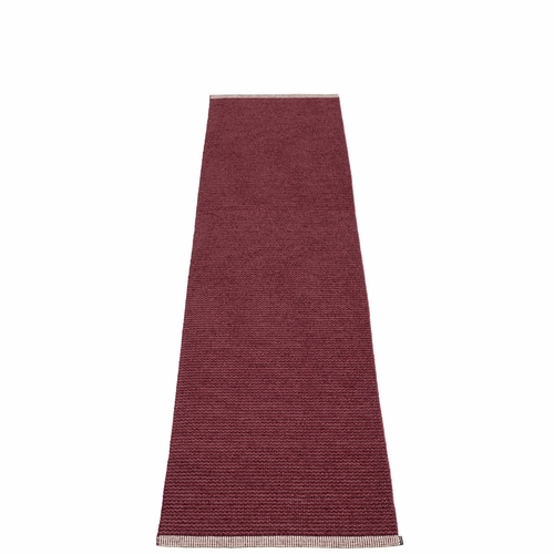 Pappelina Mono Plastic Rug - Zinfandel/Rose Taupe, 2' x 8 1/4'