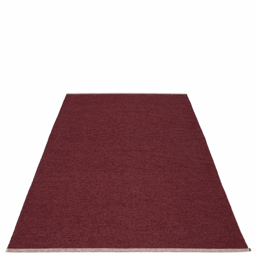 Pappelina Mono Plastic Rug - Zinfandel/Rose Taupe, 6' x 10'