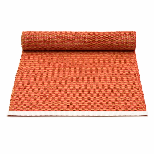 Mono Plastic Table Runner - Pale Orange