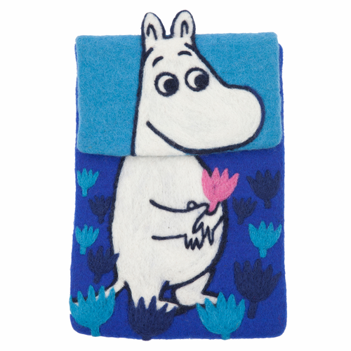 Moomin Felted Wool iPad Cover, Blue