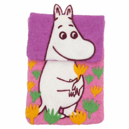 Moomin Felted Wool iPad Cover, Pink