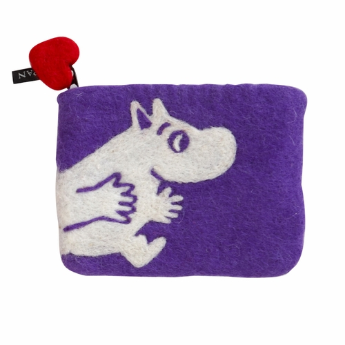 Moomin Felted Wool Purse, Lilac