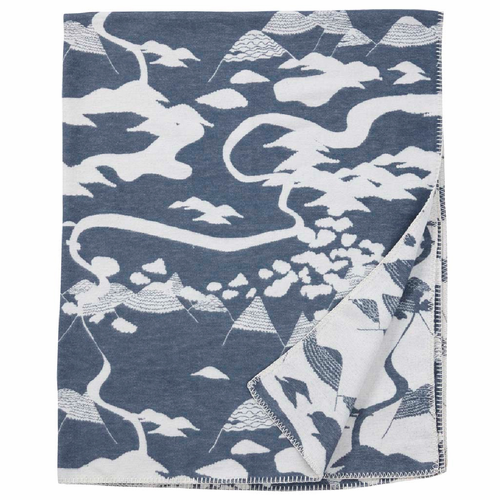 Mountains Brushed Organic Cotton Blanket