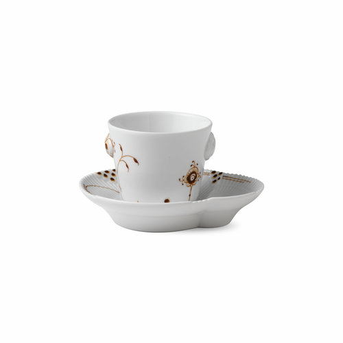 Multi-Colored Elements Espresso Cup and Saucer, Mocha