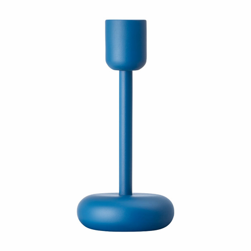 "Nappula Candle Holder (7.25""), Blue"