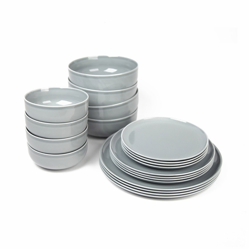 New Norm Dinnerware Starter Set, 20-Piece, Smoke