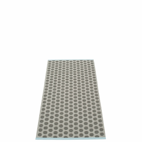 Noa Plastic Rug - Charcoal/Warm Grey, 2 1/4' x 5'