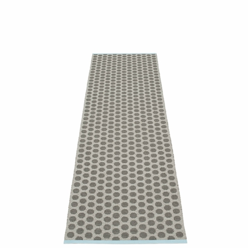 Noa Plastic Rug - Charcoal/Warm Grey, 2 1/4' x 8 1/4'