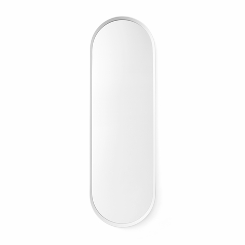 Norm Oval Mirror, White