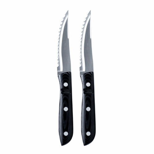 "Gense Old Farmer Micarta XL Grill Knife, Set of 2 (9.25"" - 23.5 cm)"