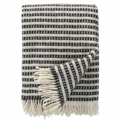 Olle Brushed ECO Lambs Wool Throw, Black