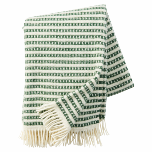 Olle Brushed ECO Lambs Wool Throw, Green