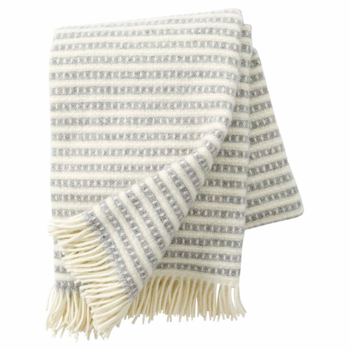 Olle Brushed ECO Lambs Wool Throw, Light Grey