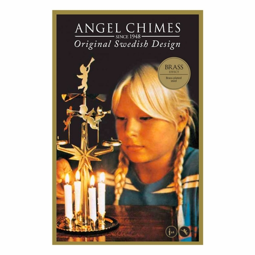 Original & Authentic Brass Plated Swedish Angel Chimes