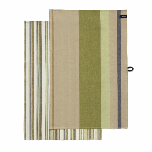 Origo Tea Towel Set of Two Green