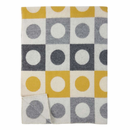 Othello Lambs Wool Blanket - Yellow/Gray