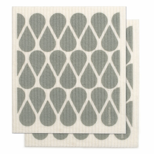"Otis Dishcloth, Set of 2 - Warm Grey, 7"" x 8"""