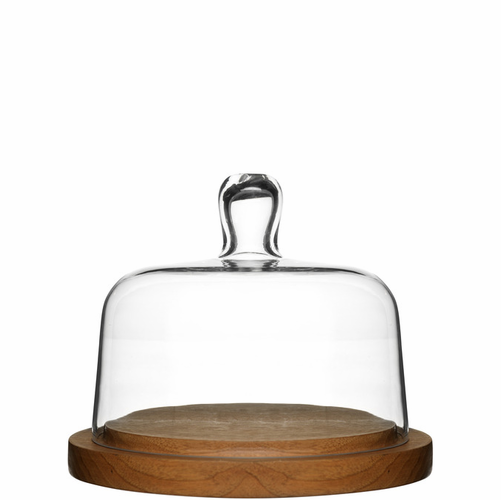 Oval Oak Cheese Dome