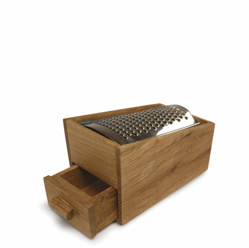 Oval Oak Cheese Grater, Oak & Stainless Steel