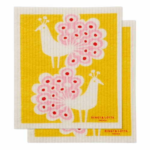 Peacock Dishcloth, Set of 2