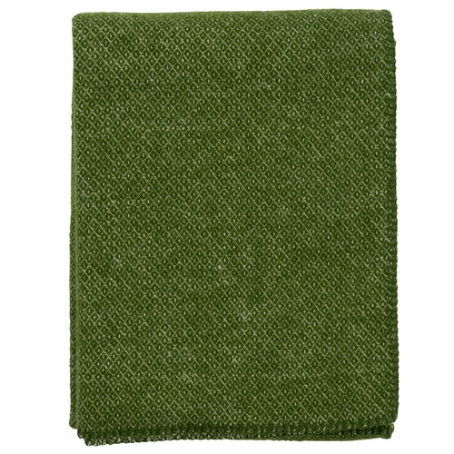 Peak Brushed Merino & Lambs Wool Throw, Green