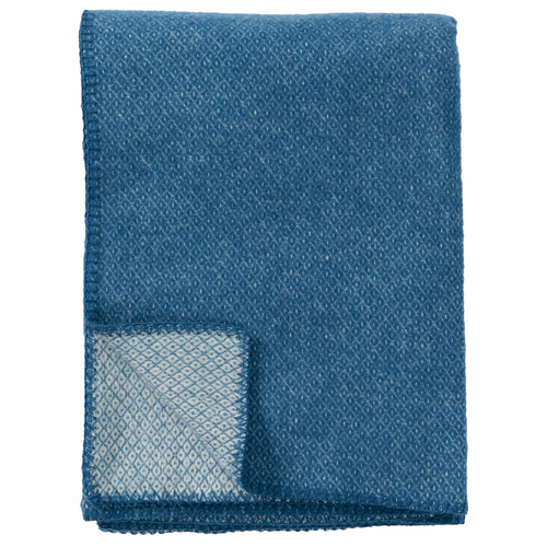 Peak Brushed Merino & Lambs Wool Throw, Petrol