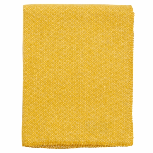 Peak Brushed Merino & Lambs Wool Throw, Yellow