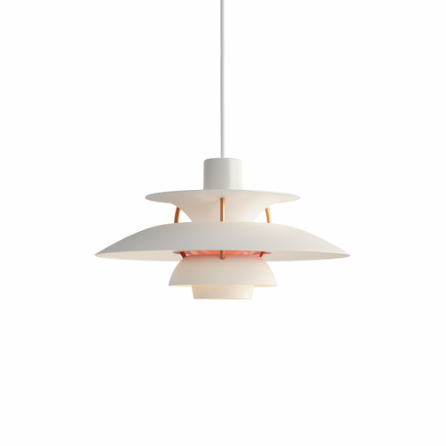 Louis Poulsen PH 5 Mini Pendant Light, Modern White, Matte