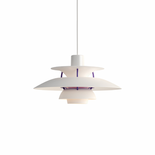 Louis Poulsen PH 5 Mini Pendant Light, Classic White, Matte